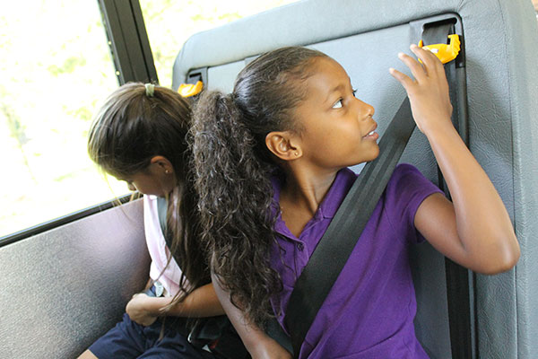 Seat belts on school bus
